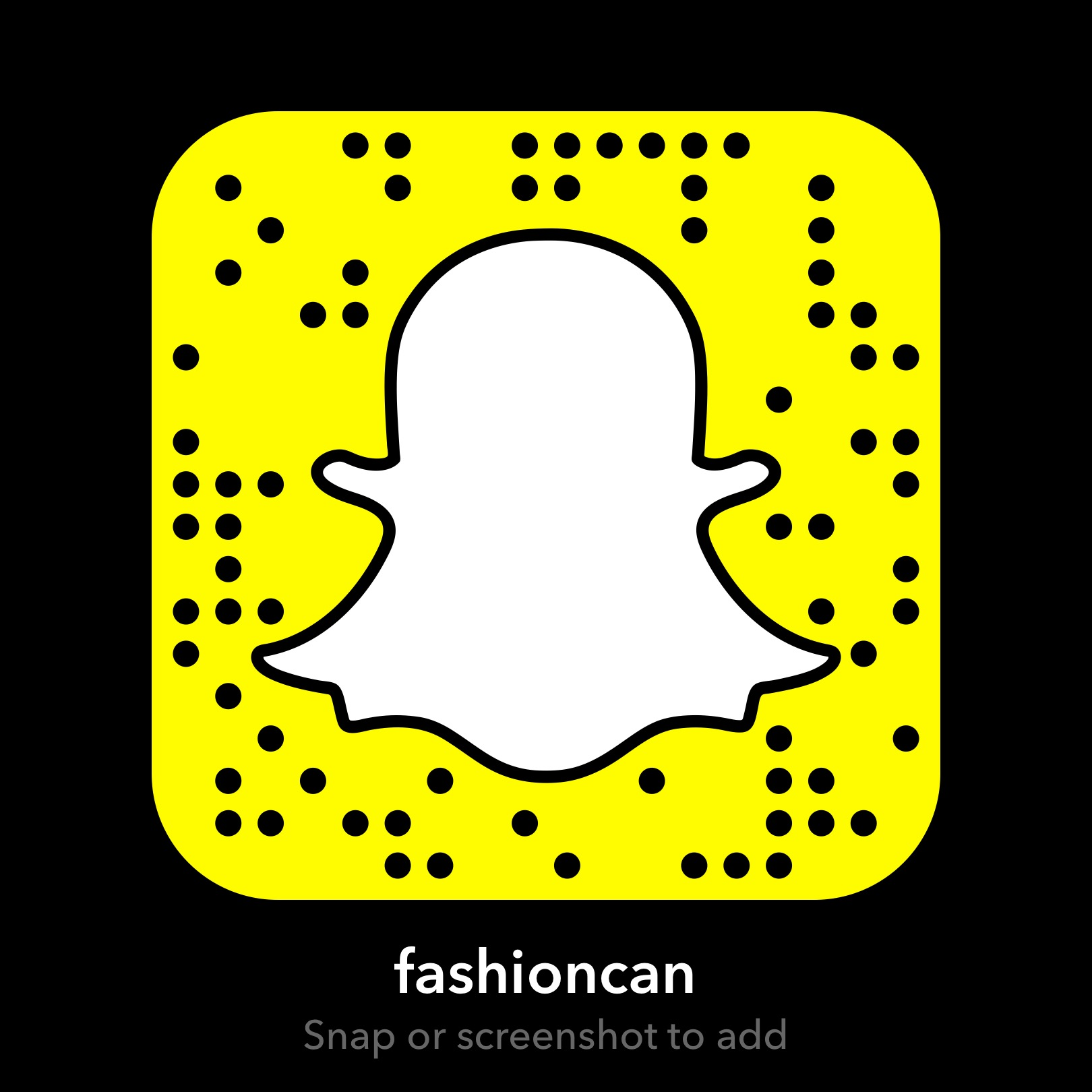 Fashion Magazine Snapchat QR Code