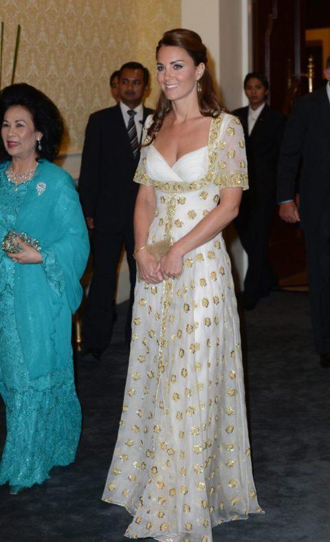 Kate Middleton in Alexander McQueen in Kuala Lumpur