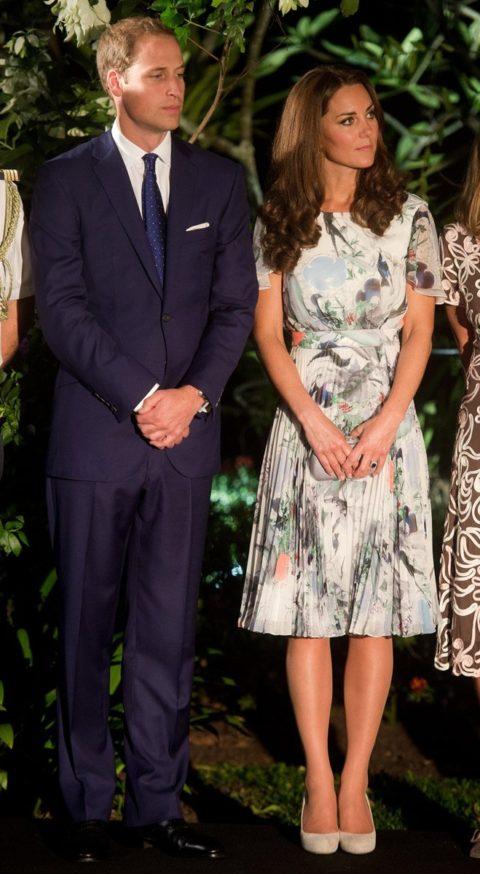 Kate Middleton Asia Tour Erdem Singapore Eden Hall