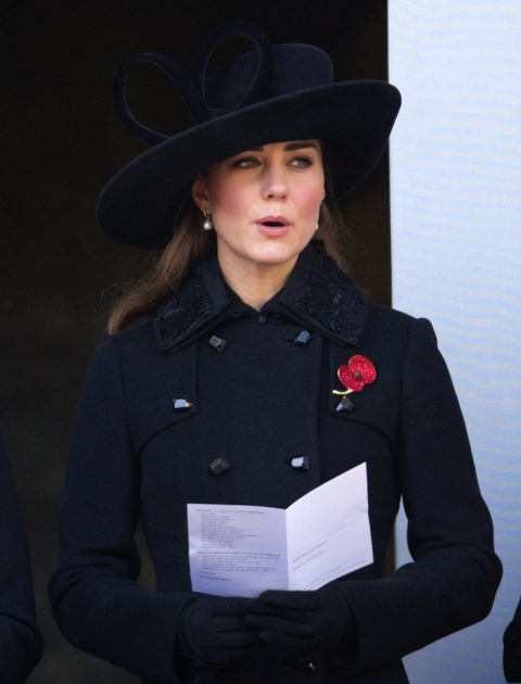 Kate Middleton attends Remembrance Day Ceremony in a DVF coat