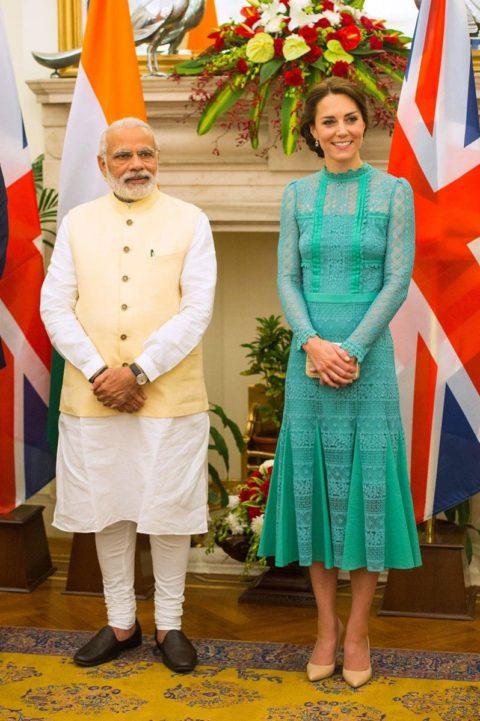 Kate Middleton India Prime Minister Narenda Modi