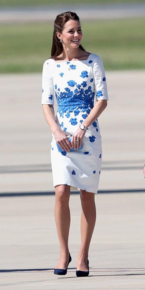 Kate Middleton LK Bennett poppy