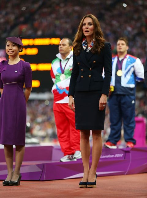 2012 London Paralympics - Day 4 - Gold Medal Ceremony - Kate Middleton