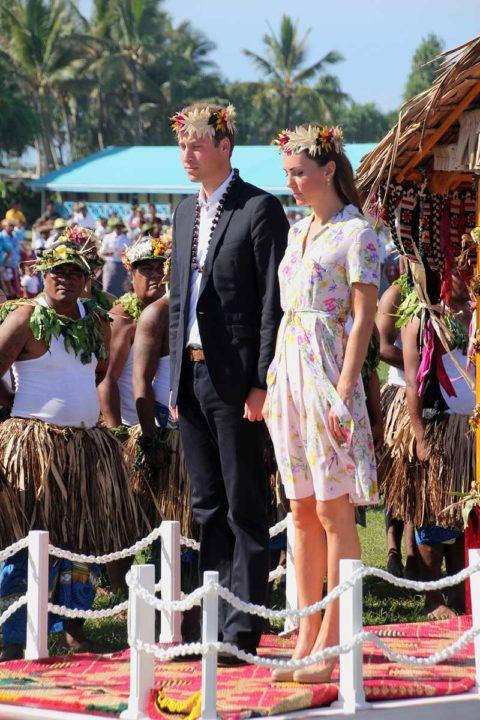 Kate Middleton Prince William Tuvalu Project D London dress