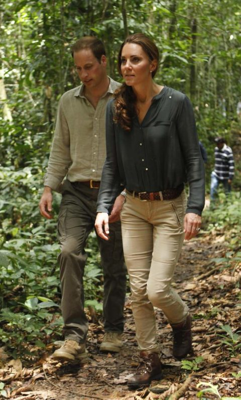 Prince William and Kate Middleton explore the rainforest in Malaysia's Danum Valley Conservation Area