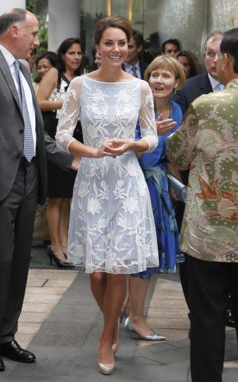 Kate Middleton Temperley London Tea Malaysia Diamond Jubilee Tour