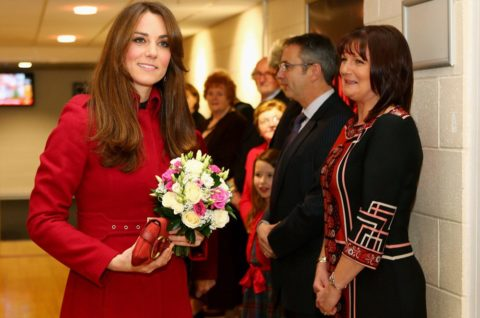Kate Middleton attends the Wales vs New Zealand Rugby Match