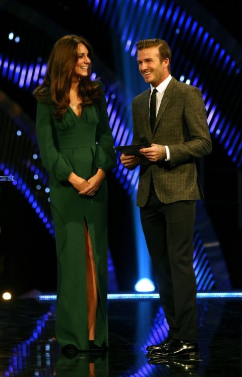 Kate Middleton emerald McQueen gown BBC Sports Personality of the Year Awards 2012
