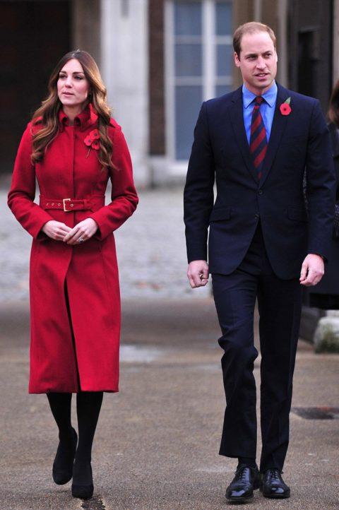 Kate Middleton poppy day LK Bennett coat