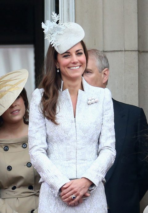 Kate Middleton trooping the colour alexander mcqueen