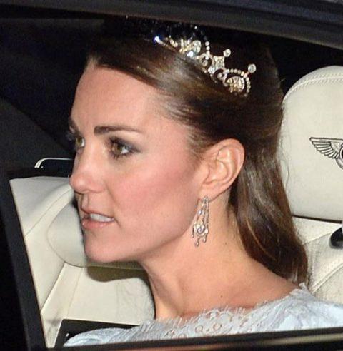 Kate Middleton wears tiara
