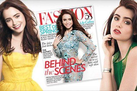 Lily Collins | FASHION Magazine April 2012