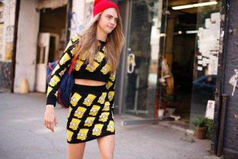 Cara Delevigne New York Fashion Week Spring 2013 Street Style