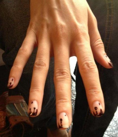 New York Fashion Week Spring 2013 Prabal Gurung Nails Dripping Blood