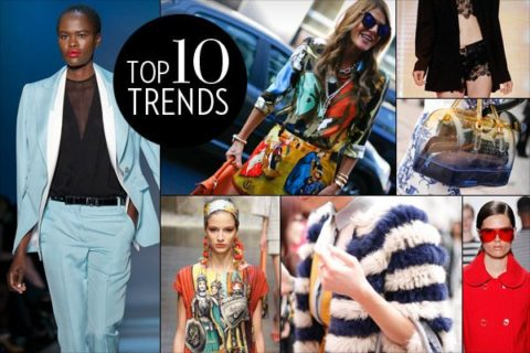 Top 10 Fashion Trends Spring 2013