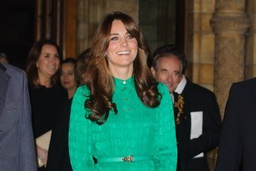 Kate Middleton new bangs Mulberry dress London History Museum