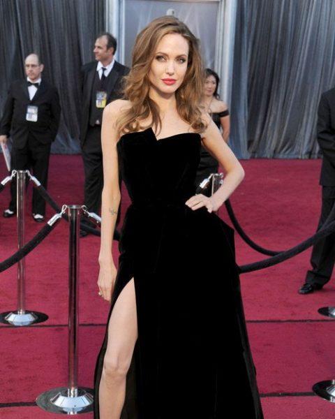 Angelina Jolie Oscars Worst Dressed 2012