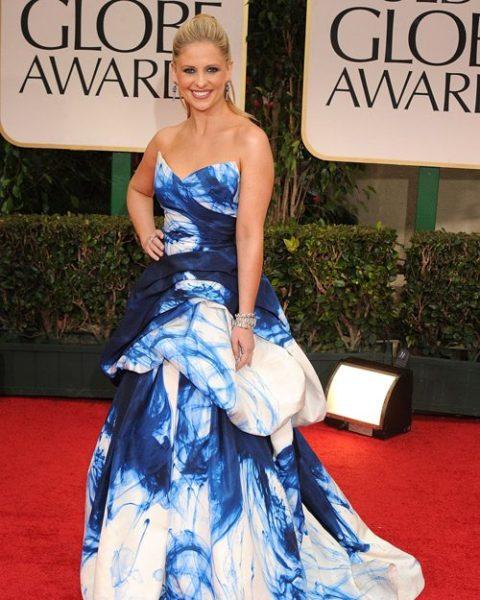 Sarah Michelle Gellar Golden Globes Worst Dressed 2012