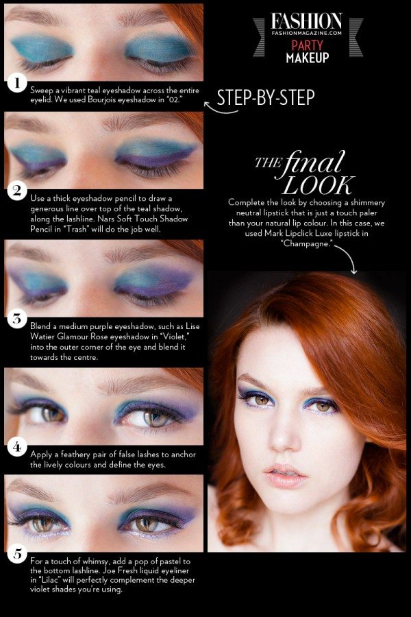 FASHION Magazine | Holiday Makeup 3 Step-by-step Tutorials For Festive Party Looks And New Year ...