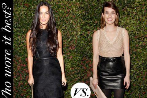 Demi Moore Emma Roberts Ferragamo Harpers Bazaar