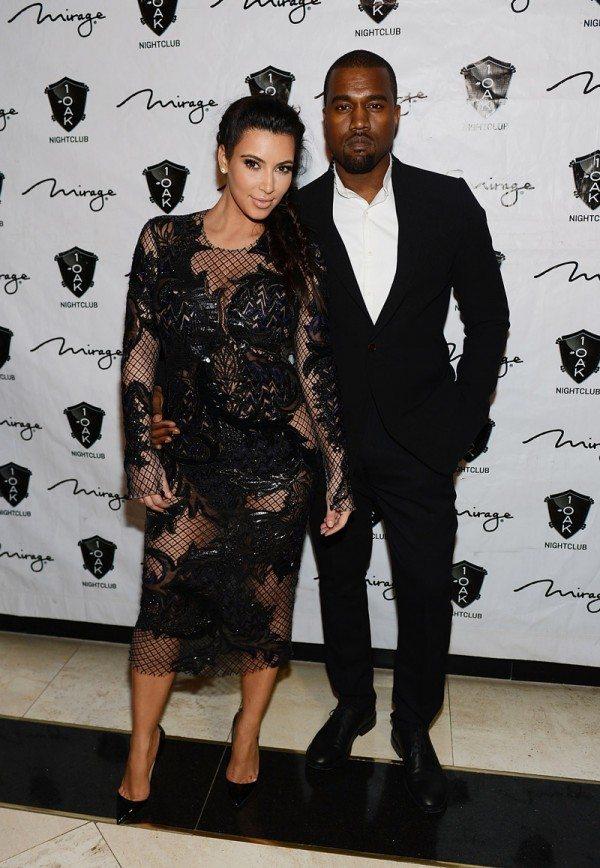 Kim Kardashian Kanye West New Years Eve 2013 « fashionmagazine.com