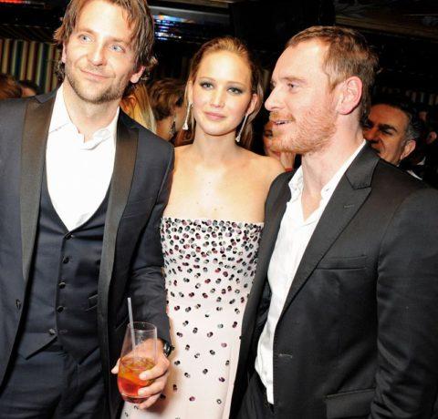 BAFTAs 2013 After Party Bradley Copper Jennifer Lawrence Michael Fassbender