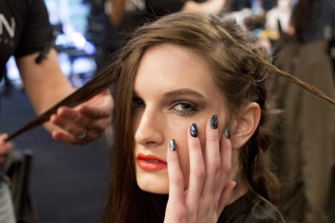 Chloe Comme Parris Fall 2013 backstage beauty