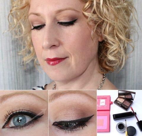 Cat-eye liner makeup tutorial - Christa