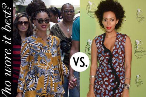 Beyonce vs Solange: Prints