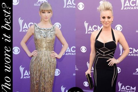 Taylor Swift Kaley Cuoco Academy of Country Music Awards Red Carpet