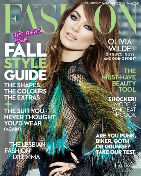 Fashion Magazine September 2013 Olivia Wilde