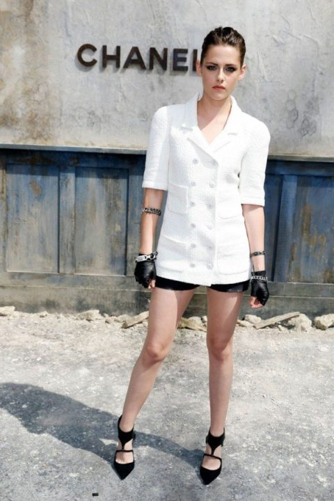 Kristen Stewart Chanel Fall-2013-Couture Fashion Show July 2013