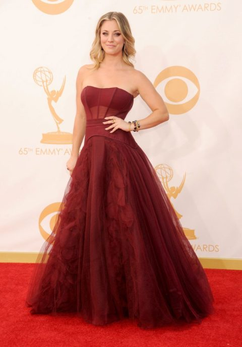 Emmys 2013 Kaley Cuoco