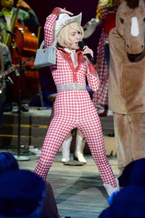 Miley Cyrus MTV Unplugged Gingham Suit