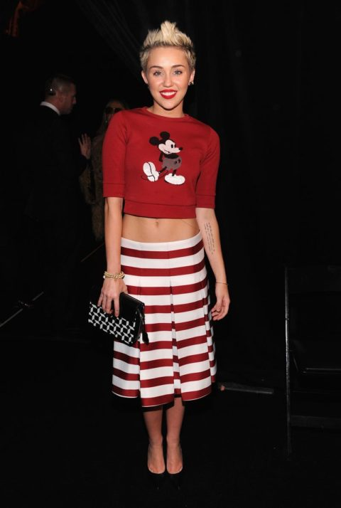 Miley Cyrus Marc Jacobs Fall 2013 show February 2013