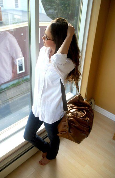 White Shirt Kayla Short