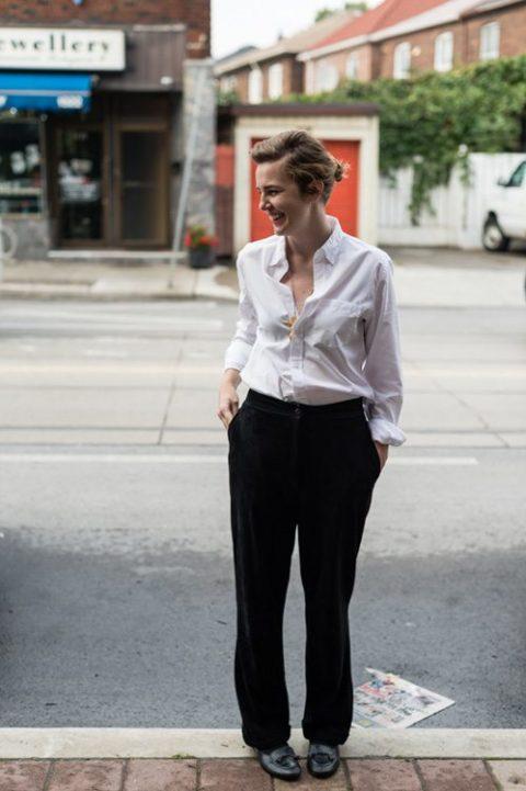 White Shirt Leah Gust