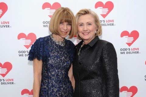 God's Love We Deliver Anna Wintour and Hilary Clinton
