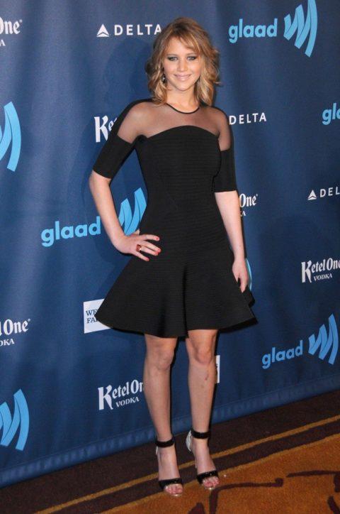 Jennifer Lawrence 24th Annual GLAAD Media Awards April 2013