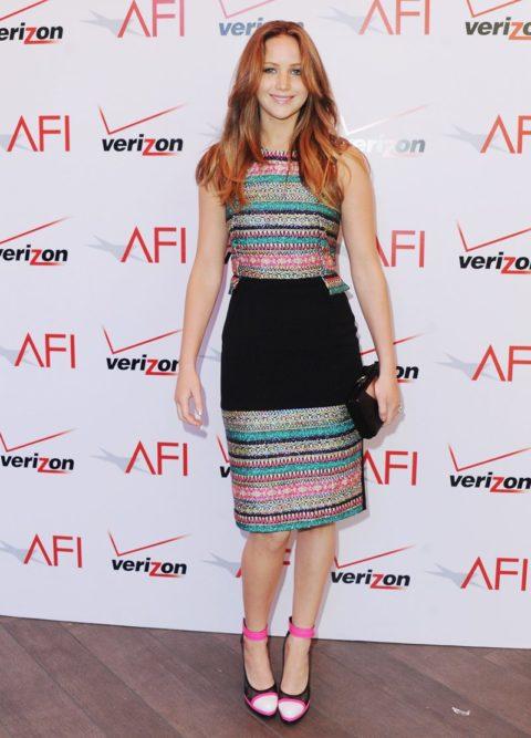 Jennifer Lawrence AFI Awards Luncheon January 2013
