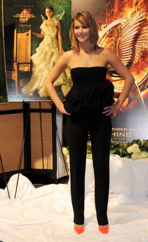 Jennifer Lawrence Cannes Press Event Pantsuit