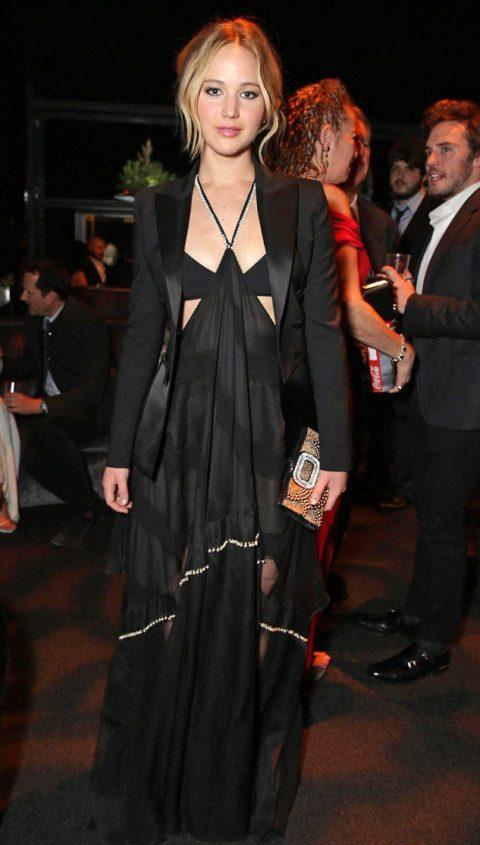 Jennifer Lawrence Dior Mockingjay Part 1 Los Angeles After Party