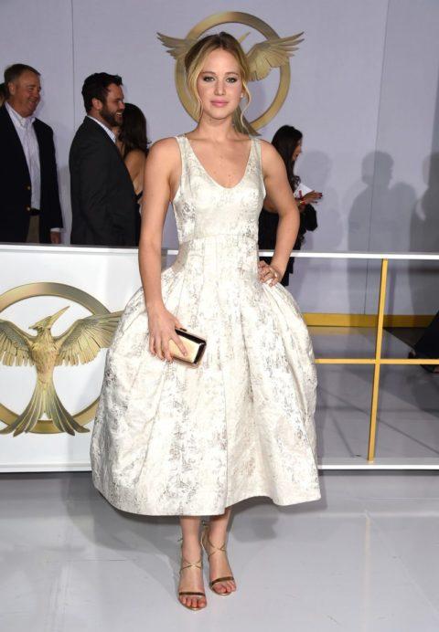 Jennifer Lawrence Dior Mockingjay Part 1 Los Angeles Premiere