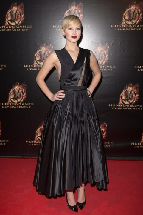 Jennifer Lawrence Hunger Games Catching Fire Paris Premiere