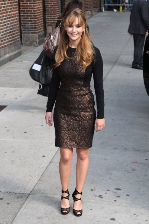 Jennifer Lawrence Leaves Late Show David Letterman March 2012