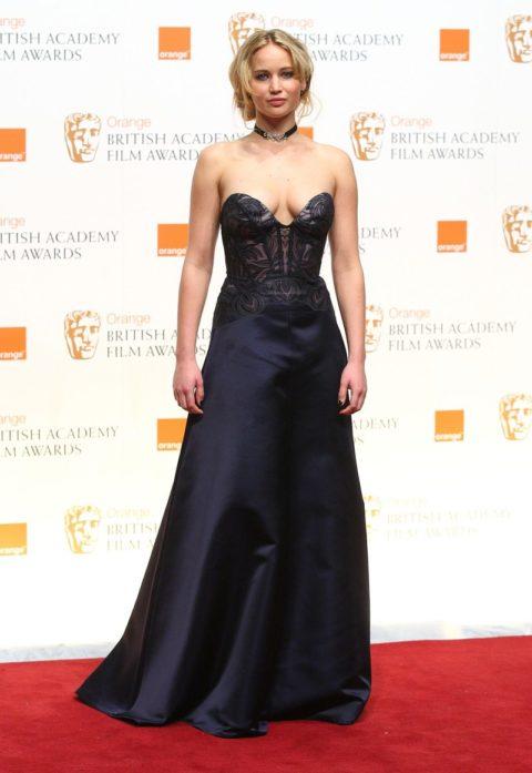 Jennifer Lawrence Orange British Academy Film Awards February 2011