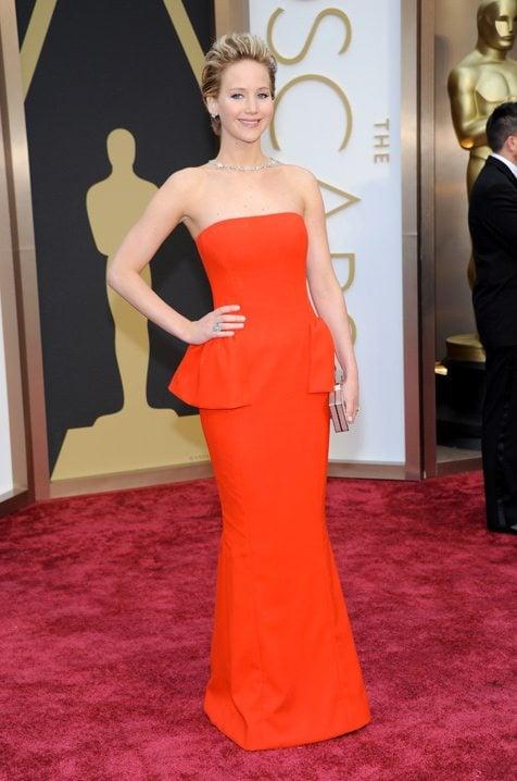 Jennifer Lawrence Oscars 2014 Red Carpet Dior