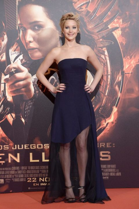 Jennifer Lawrence Premier Hunger Games Catching Fire Madrid November 2013