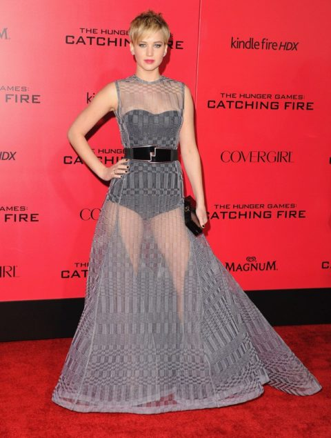 Jennifer Lawrence The Hunger Games Catching Fire Los Angeles Premiere