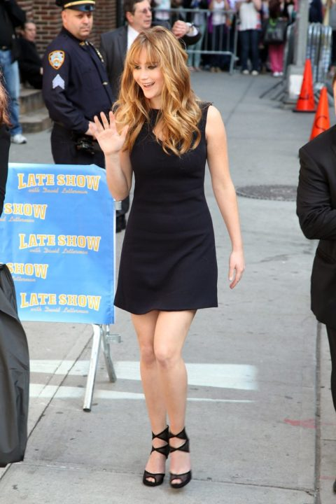 Jennifer Lawrence Visitis Late Show David Letterman March 2012